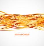 Absract orange background with horizontal lines Stock Photo