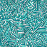 Absract pattern. Seamless abstract pattern in bright blue colors. Vector illustration Stock Images