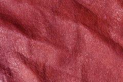 Absract röd leahertextur Royaltyfria Bilder