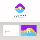 Absract R letter in rhomb logo icon. Fun company logo sign vecto. R letter in rhomb logo icon. Fun company logo sign vector design Royalty Free Illustration