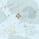 Absract sea map seamless Stock Images