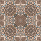 Absract seamless geometric mosaic. Abstract geometric mosaic vintage ethnic seamless pattern royalty free illustration
