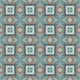 Absract seamless geometric mosaic print. Seamless abstract tiles geometric surface pattern vector Royalty Free Stock Photo