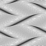 Absract seamless pattern background waves surface. Waves seamless pattern. Wavy surface background. Optical illusion of smooth 3D wave lines groove effect vector illustration