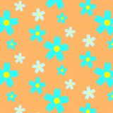 Absract summer floral seamless pattern royalty free illustration
