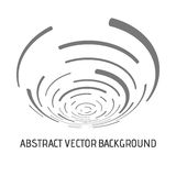 Absract vector lines. Vector abstract background. Modern technology illustration with mesh. Digital geometric abstraction with round lines. Wave abstraction Royalty Free Stock Images