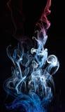 Absract virvel på rökmolnet Arkivfoto