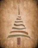 Absractachtergrond met houten Kerstmisboom Stock Afbeeldingen