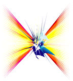 Absrtact Background. An Abstract colorful explosion background royalty free illustration