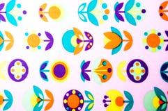 Absrtact bilder på ett vitt silkespapper Royaltyfri Bild