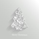 Absrtact Floral Christmas Tree Background. Trendy Design Template stock illustration