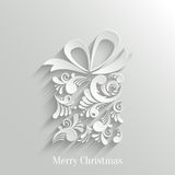Absrtact Floral Gift Background. Absrtact Floral Christmas Gift Background, Trendy Design Template royalty free illustration