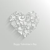 Absrtact Floral Heart Background. Absrtact Floral Christmas Tree Background. Valentine`s Day Card. Trendy Design Template stock illustration