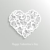 Absrtact Floral Heart Background. Valentine`s Day Card. Trendy Design Template royalty free illustration