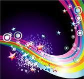 Absrtact Rainbow Stars Background Stock Photo
