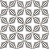 Absrtact seamless 3D pattern. Geometry end flower elements royalty free illustration