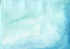 Absrtact soft watercolor backgraund. Hand painted light. Watercolor blue sky and clouds art, turquoise vibrant paper texture Royalty Free Stock Images