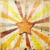 Absrtact star. On grunge background royalty free illustration