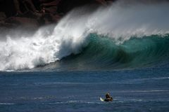 Abstützen-brechen Sie das Surfen Stockfotografie