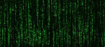 Abst neo del terminale del pirata informatico di Cyberpunk della matrice orizzontale di verde vivo fotografia stock libera da diritti