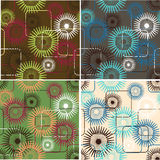 Abstacr floral background. Set of abstract seamless patterns stock illustration