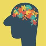 Abstact脑子 向量例证