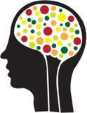 abstact άνθρωπος εγκεφάλου διανυσματική απεικόνιση