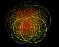 abstact ψηφιακό κόκκινο twirl τέχνης βαθιά απεικόνιση αποθεμάτων