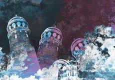 abstact ψηφιακό κόκκινο twirl τέχνης βαθιά διανυσματική απεικόνιση
