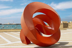 Abstact Art. Abstract sculpture in Cadiz, Spain Stock Image