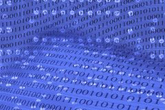 Abstact background with circuit board and binary code.  Stock Images