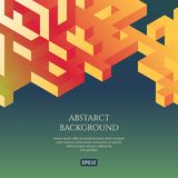 Abstact background in isometric style. The illusion of a three-dimensional image. Geometric texture Stock Photo