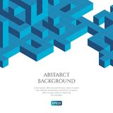 Abstact background in isometric style. The illusion of a three-dimensional image. Geometric texture Stock Photography