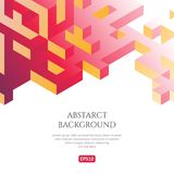 Abstact background in isometric style. The illusion of a three-dimensional image. Geometric texture Royalty Free Stock Photo