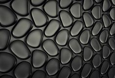 Abstact black futuristic wall. 3d render Stock Photography
