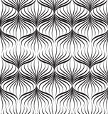 Abstact black-and-white geometric line pattern. Abstact seamless pattern. Floral line swirl geometric texture. Stylish abstract ornamental background Royalty Free Illustration