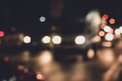 Abstact bokeh road in city Royalty Free Stock Photo