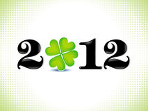 Abstact clover based new year text Stock Photos