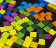 Abstact colorful cubes Stock Photography