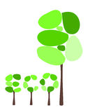 Abstact eco trees. Symbolic tree and eco caption made of trees Stock Images