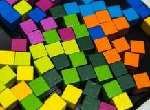 Abstact färgrika kuber Royaltyfri Fotografi