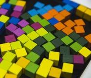Abstact färgrika kuber Arkivbild