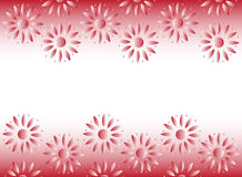 Abstact Flower Frame. A beautiful red frame design with flower designs Stock Photos