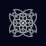 Abstact Geometrical Sacred Symbol. Abstact Ancient Sacred Symbol in different styles:  alien, alchemy, religious, spiritual, magic, mystic, meditation Stock Photo