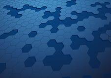 Abstact hexagon achtergrond Stock Afbeeldingen
