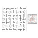 Abstact labyrinth. Educational game for kids. Puzzle for children. Maze conundrum. Find the right path. Vector illustration.  stock illustration