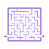 Abstact labyrinth. Game for kids. Puzzle for children. Maze conundrum. Find the right path. Color vector illustration.  stock illustration