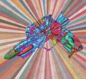 Abstact laser gun stock photo