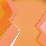 Abstact lineare arancio tagliato carta di riso Immagine Stock