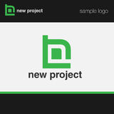 Abstact logo template. For architecture and design themes stock illustration